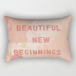Beautiful new beginnings Rectangular Pillow