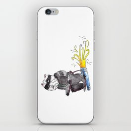 Stoned Raccoon Riding a Jetpack iPhone Skin