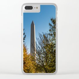 The Washington Monument in Fall Clear iPhone Case