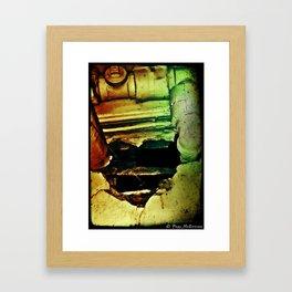 Hole Heart 1c - Ivan/Kryptonite/Dirt Framed Art Print