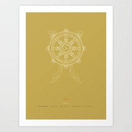 Dharmachakra – Wheel of Law Art Print