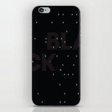 Black as night iPhone & iPod Skin