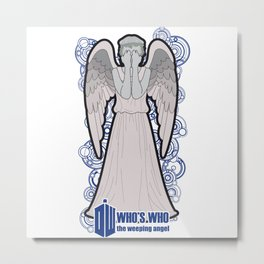 Doctor Who: Who's Who, the weeping angel Metal Print