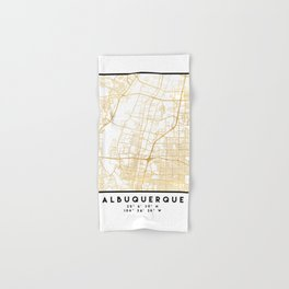 ALBUQUERQUE NEW MEXICO CITY STREET MAP ART Hand & Bath Towel