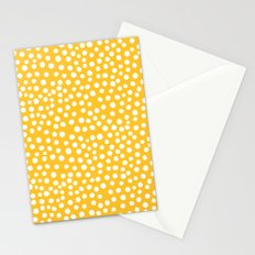 DOT PATTERN - yellow and white Stationery Cards