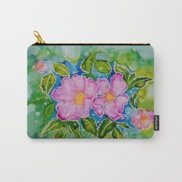 Alberta Wild Rose Carry-All Pouch