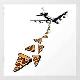 No war more pizza Art Print