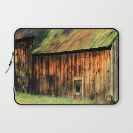 Sunrise on a weathered barn Laptop Sleeve