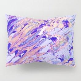 Fluid Acrylic Painting Multi Color Glitch Wave Effect Purple Lilac Beige Pink Pillow Sham