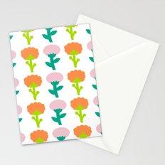 Retro Flower Stationery Cards
