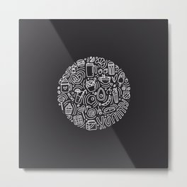 Yummy Doodle Metal Print