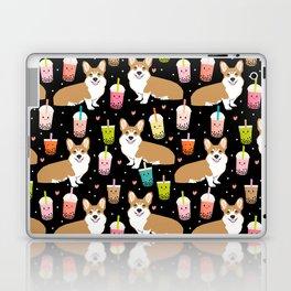 corgi boba tea bubble tea cute kawaii dog breed fabric welsh corgis dog gifts Laptop & iPad Skin