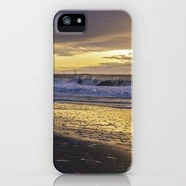 Dramatic sunrise over Jersey Shore iPhone Case