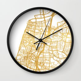 TEL AVIV ISRAEL CITY STREET MAP ART Wall Clock
