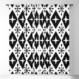 Mid Century Modern Atomic Triangle Pattern 125 Blackout Curtain