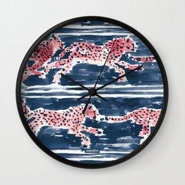 Navy SPEEDY CHEETAHS Wall Clock