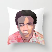 childish gambino Throw Pillows featuring Childish by Grace Teaney Art
