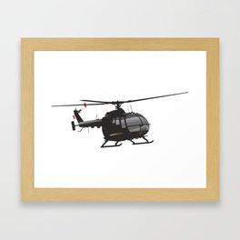 Black German Helicopter Bo.105 Framed Art Print