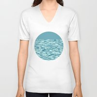 waves V-neck T-shirts featuring Waves by Anita Ivancenko