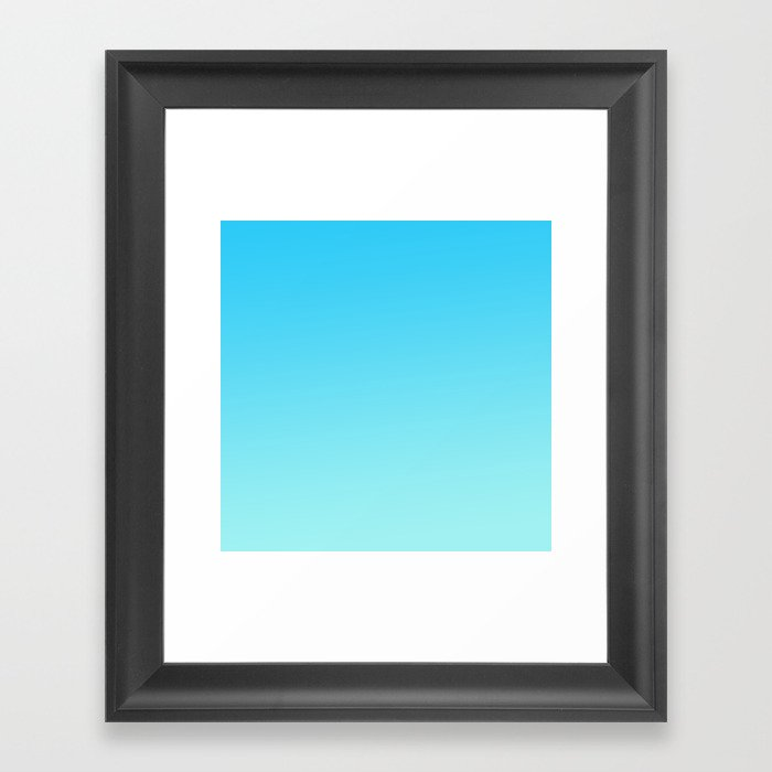Simply sea blue teal color gradient - Mix and Match with Simplicity of Life Gerahmter Kunstdruck