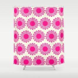vintage flowers pink  Shower Curtain
