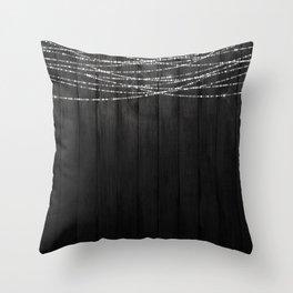 Fairy Lights on Wood 01 Throw Pillow
