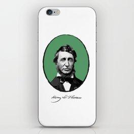 Authors - Henry David Thoreau iPhone Skin