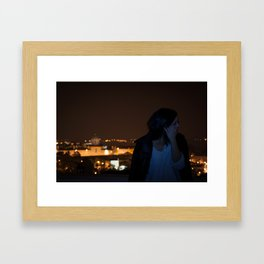 why so shy Framed Art Print