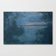Dusk at the Lake Canvas Print