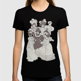 Vintage Ladies APRICOT / Vintage illustration redrawn and repurposed T-shirt