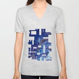 Blue Abstract No.1 Unisex V-Neck