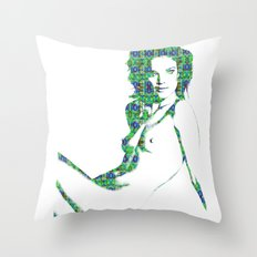 Nude: Natalia Vodianova Fashion Throw Pillow