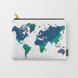 Green world map Carry-All Pouch