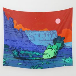 Red Sky Wall Tapestry