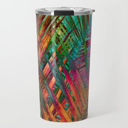 Multicolor Palm Leaves Travel Mug