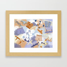 Laundry Day illustrated underwear print skivvies Framed Art Print