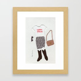 Florida Woman Outfit Framed Art Print