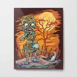 Mummy At The Beach Metal Print