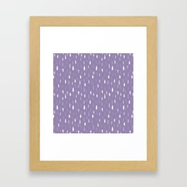 Stains Abstract Ultraviolet Framed Art Print
