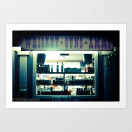 whiskey and ammo Art Print