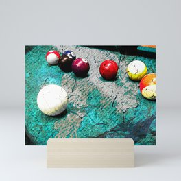 Modern Pool art and billiards artwork Mini Art Print