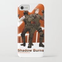 stucky iPhone & iPod Cases featuring shadow burns by Hill