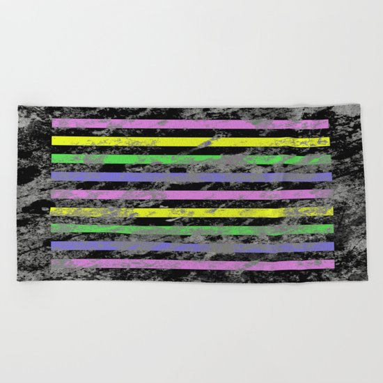 Linear Breakthrough - Abstract, geometric, textured artwork Beach Towel