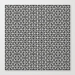 Black and White Greek Key Pattern Canvas Print