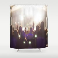 concert Shower Curtains featuring Concert by LaiaDivolsPhotography