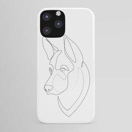 German Shepherd - one line drawing iPhone Case