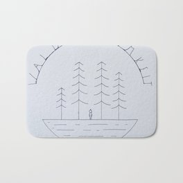 Simple forest drawing Bath Mat