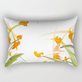 Atom Flowers #27 Rectangular Pillow
