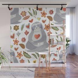 Sloth Pattern #4 Wall Mural