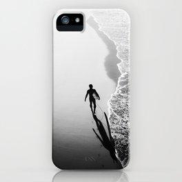 California Surfer Walking the Shore iPhone Case
